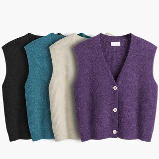 Button-up Sweater Vest