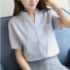 V-Neck Short-Sleeve Shirt 1596