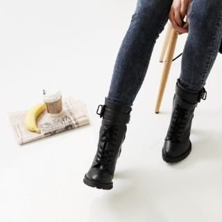 Picture of Youareagirl Lace-Up Ankle Boots 1022249006 (Boots, Youareagirl Shoes, Korea Shoes, Womens Shoes, Womens Boots)