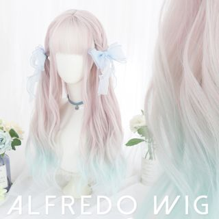 Image of Long Full Wig - Wavy Gradient Transparent - One Size