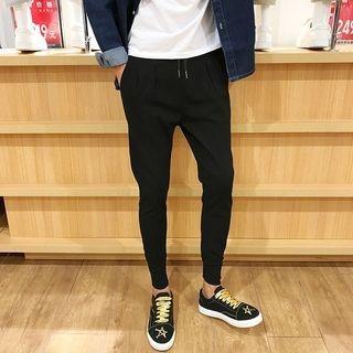 Fleece-Lined Slim-Fit Pants
