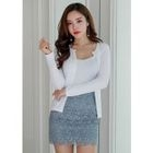 Set: Button-Down Cardigan + Ribbed Camisole Top 1596