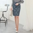 Laced Pencil Skirt 1596