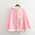 Pompom Hooded Cape 1596