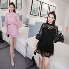 Maternity Lace Bell-Sleeve Dress 1596