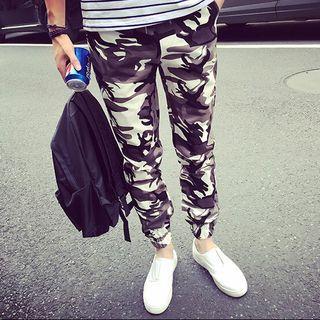 Camo Drawstring Pants 1057154978