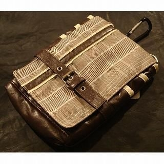 Buy Wizz Spirit Belted Plaid Pouch with Strap Beige – One Size 1021638565