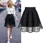 Pleated Check Skirt 1596