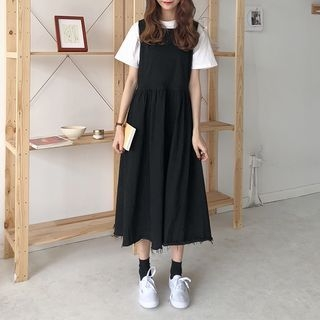Midi Pinafore Dress 1065787639