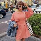 Pintuck A-Line Mini T-Shirt Dress 1596