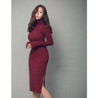Turtleneck Ribbed Dress 1055057553