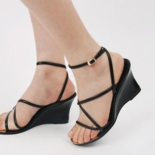 Picture of IT GIRL STYLE Strap Wedge Sandals 1022902069 (Sandals, IT GIRL STYLE Shoes, Korea Shoes, Womens Shoes, Womens Sandals)