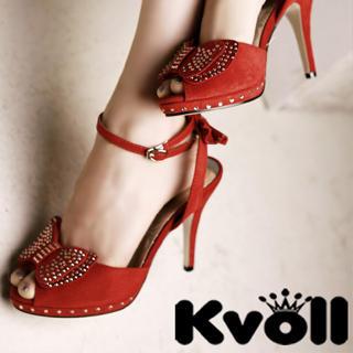 Buy Kvoll Bow-Accent Peep-Toe Heels 1022786415