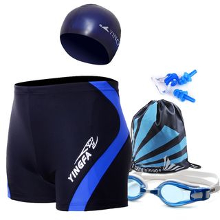 Set: Swim Shorts + Swim Cap + Goggles + Drawstring Bag + Nose Clip + Ear Plugs 1058021744