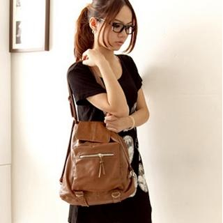 Buy Fashion Lady Faux-Leather Convertible Backpack 1023046753
