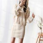 Set: Hooded Knit Top + Knit Skirt 1596
