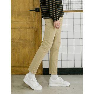 Straight-Cut Chino Pants