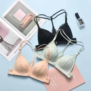 Image of Lace Front Closure Wireless Bra
