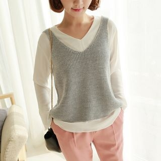 Sleeveless Knit Top 1049030863