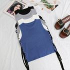 Lace Up Sleeveless Top 1596