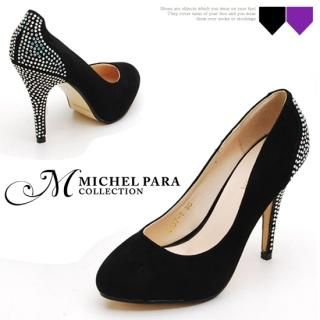 Buy MICHEL PARA COLLECTION Rhinestone Detail Faux Suede Pumps 1022289887