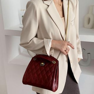 Image of Chain Strap Quilted Shoulder Bag