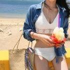 Bikini Set: Halter-Neck Knit Top + Bottom 1596