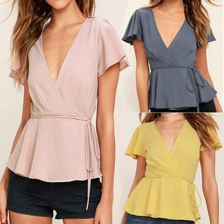 Short-Sleeve V-Neck T-Shirt 1058491138