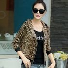 Hooded Leopard-Print Jacket 1596