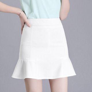 Ruffle Hem Mini Skirt 1060308380