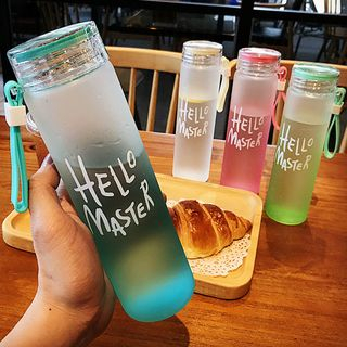 Image of Lettering Glass Water Bottle