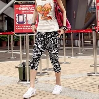 Picture of PUFFY Print Harem Pants Black - One Size 1022940061 (PUFFY Pants, Taiwan Pants)