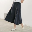 Band-Waist Cotton Wide-Leg Pants 1596