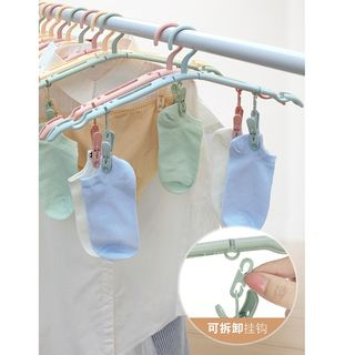 Image of Travel Foldable Hanger with Clothes Peg