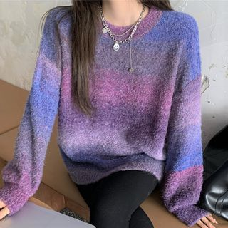 Gradient Sweater Purple - One Size