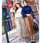 High-Waist Midi Pleated Skirt 1596