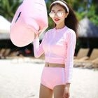 Set: Long-Sleeve Zip-Up Swim Top + Swim Shorts 1596