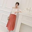 Off-Shoulder Short-Sleeve Dress / Off-Shoulder Top 1596