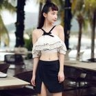 Set: Frilled Bikini Top + Swim Skirt 1596