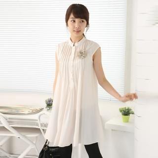 Buy Daisy Mandarin Collar Pintuck Dress 1022718602