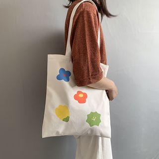 Flower | Design | Canvas | Tote | Bag
