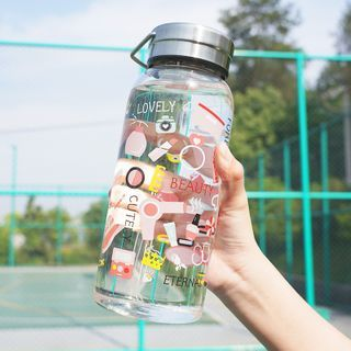 Image of 1L Printed Glass Water Bottle