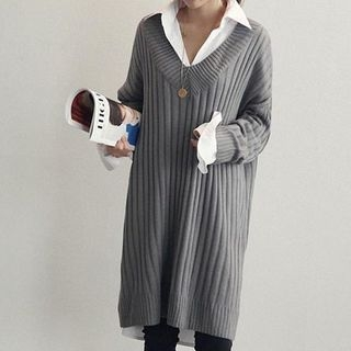 Ribbed Knit Dress 1055032452