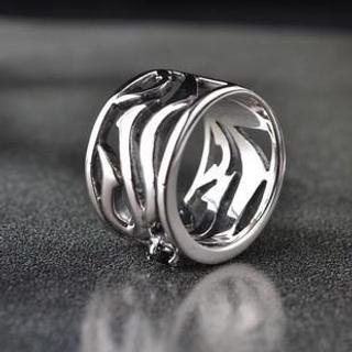 Titanium Steel Filigree Ring