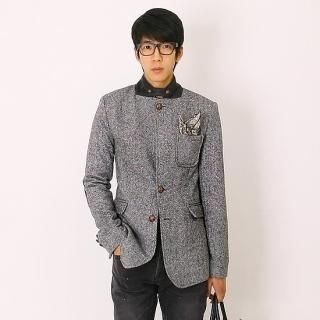 Mandarin-Collar Jacket