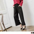 Ribbed Knit Wide-Leg Pants 1596
