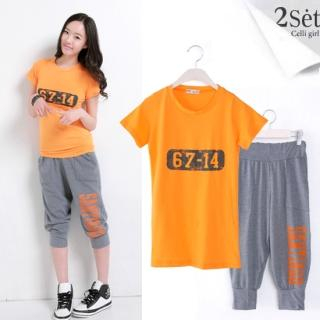 Buy Celli Girl Set: Short-Sleeve T-Shirt + Sweatpants 1022578815