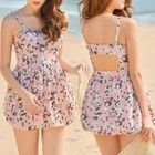 Set: Floral Swimdress + Swim Shorts 1596