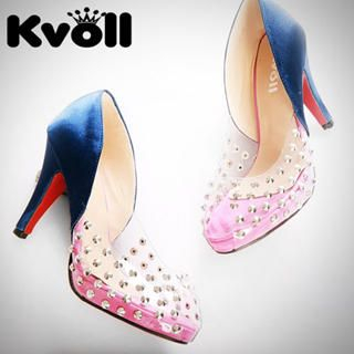 Buy Kvoll Studded Clear Platform Pumps 1022532810
