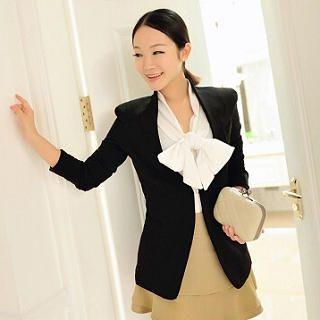 Women's Fashion Collarless Blazer